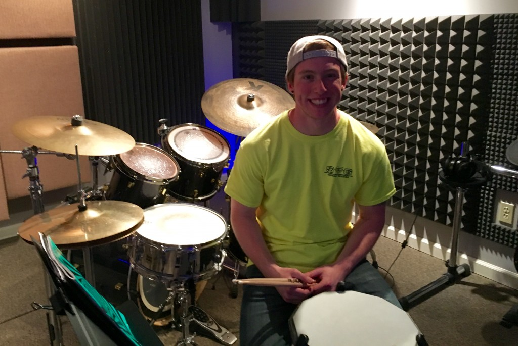 Kevin, One of the DrumWorks roster of students at a recent lesson.